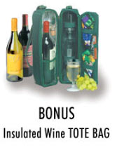 6-Piece Wine Tote Included