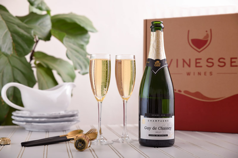 Ultimate Champagne Celebration Wine & Flutes Gift Set