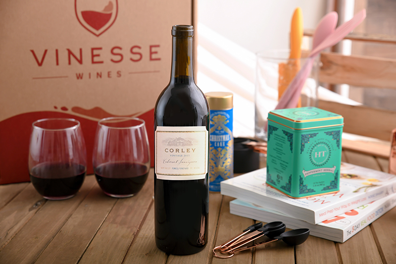 Quintessential Napa Cabernet Wine & Stemless Glasses Gift Set