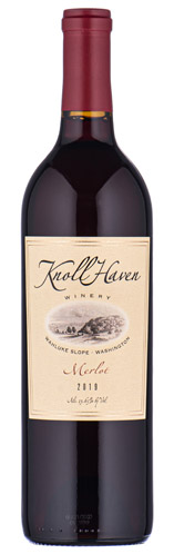2019 Knoll Haven Winery Wahluke Slope, Washington Merlot
