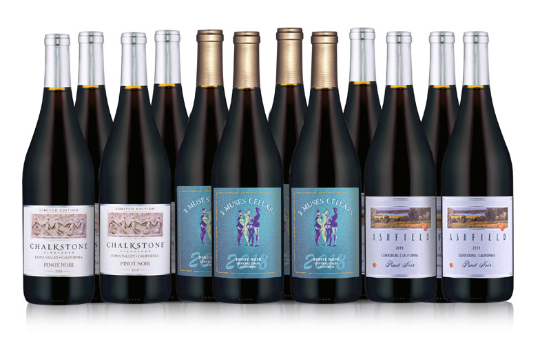 Golden State Pinot Noirs 12-Bottle Collection